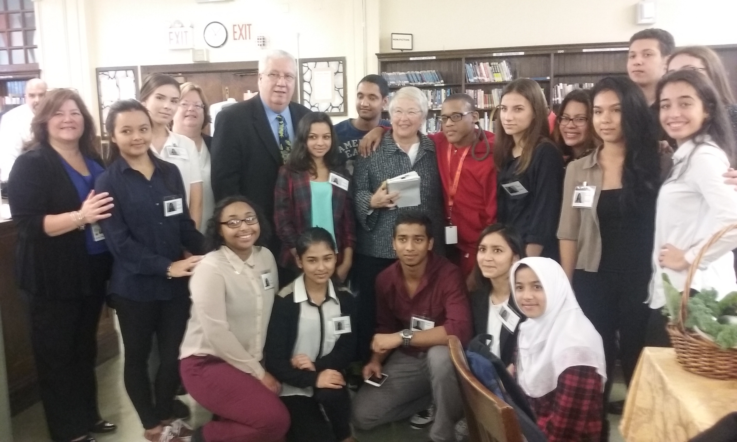 Assemblywoman Catherine Nolan joined State Senator Carl Marcellino, NYC DOE Chancellor Carmen Farina, Grover Cleveland High School Principal Denise Vittor, teachers and students on a recent school visit to Ridgewood's Grover Cleveland High School.