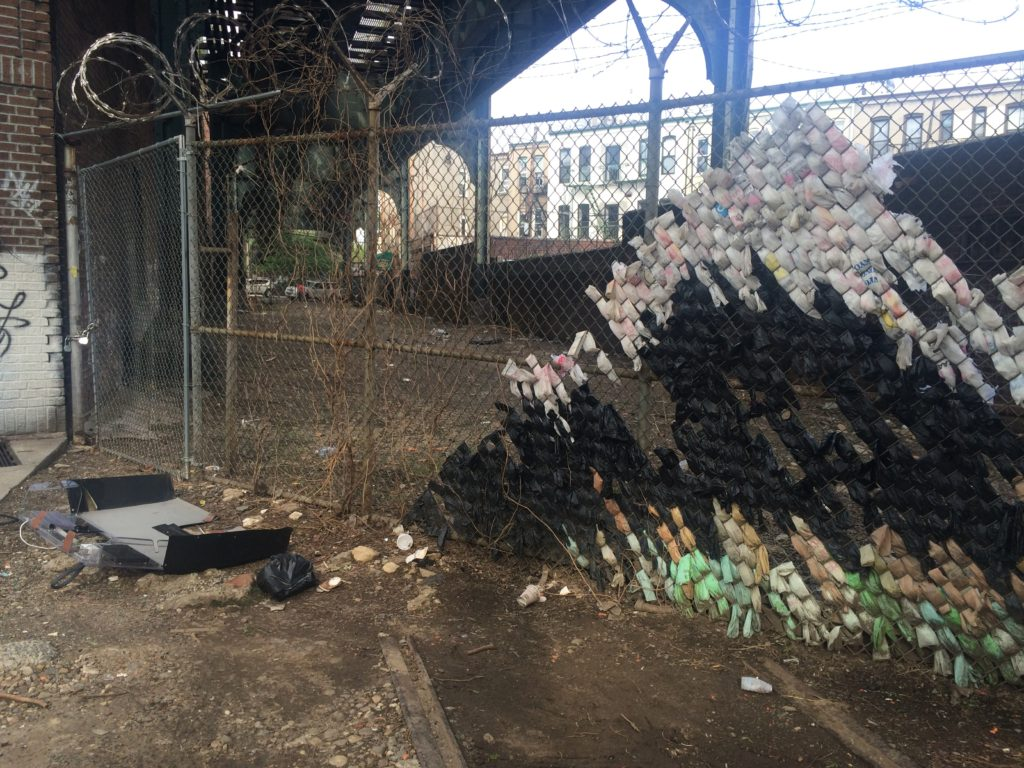 The former community garden space, as it sits today after the MTA evicted the group.