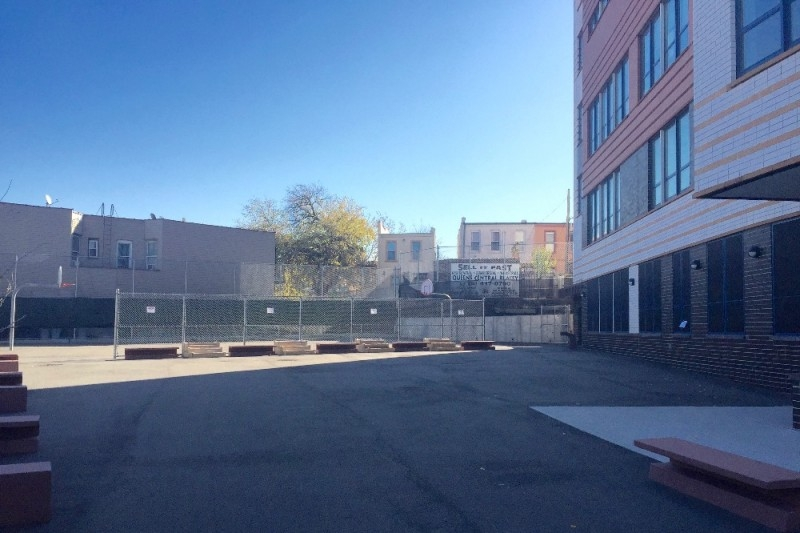 The vacant space in the school yard that the PTA is looking to transform.